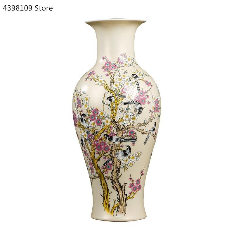 Ev ve Bahçe'ten Vazolar'de Çin doğal dezhen seramik vazo dekorasyon zarif desen hayvan vazo oturma odası tezgah vazo ev dekorasyon el sanatları'da  Grup 1