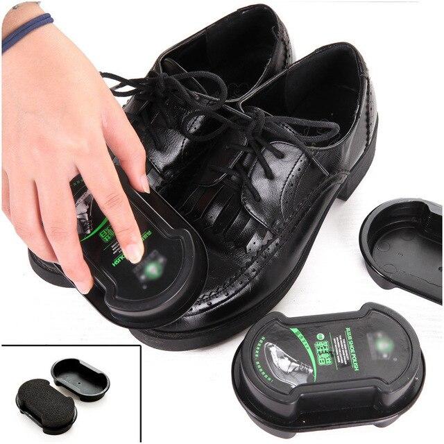 Губка с кремом для чистки обуви бесцветный обувной воск 2