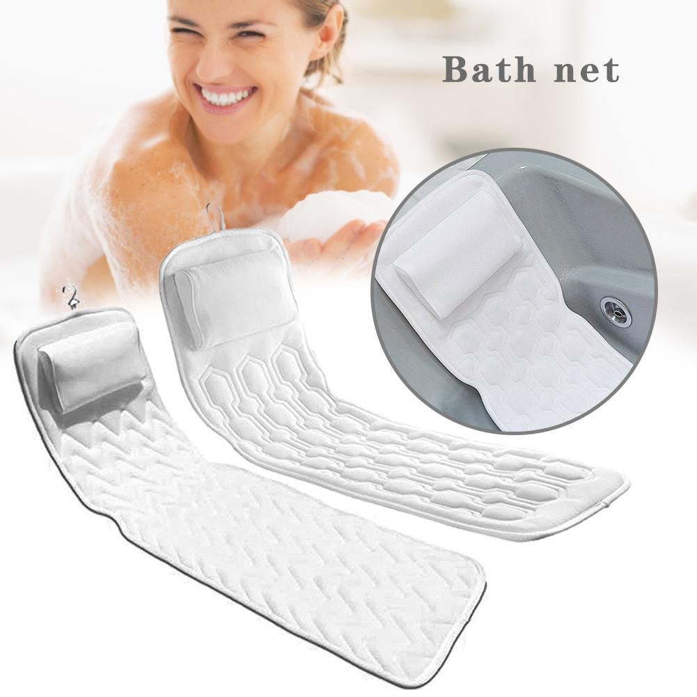 Bath Cushion For Tub - Extra-Large Non-Slip Spa Bathtub Mat Mattress Pad With 3D Mesh Layers - Great Back Support For Adults