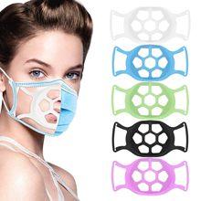 1pc 3d boca máscara titular nariz separado boca apoio respiração auxiliar suporte almofada interna silicone adultos válvulas respiráveis