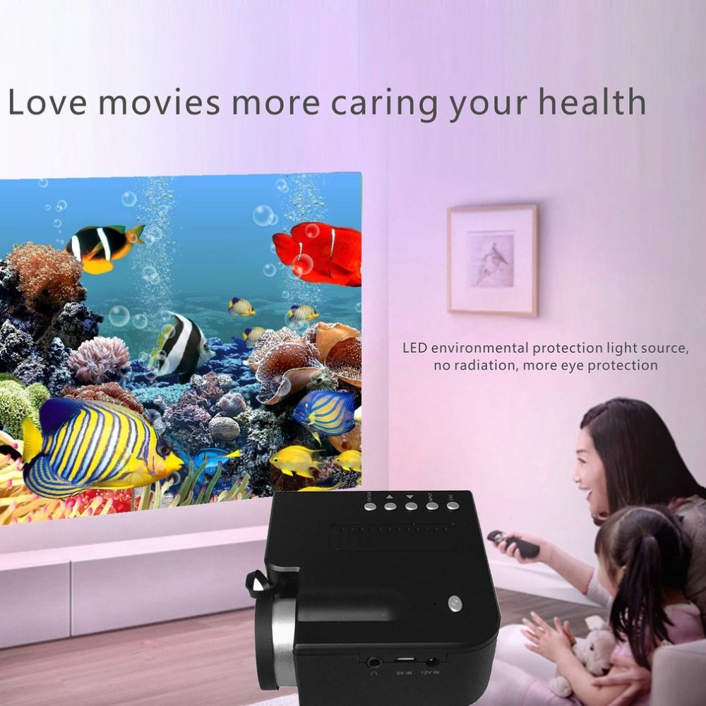 Home Projector Mini Miniature UC28B+ Portable 1080P HD Projection Mini LED Projector For Home Theater Entertainment