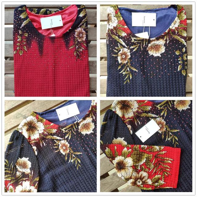 2020 New Arrival Fashion Summer Three Quarter Slim floral long Shirt Female Casual Slim Color Plus Size elegant Printed Blouse 6