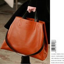Prawdziwe torebki skórzane damskie 2020 nowe torebki i torebki luksusowe torebki damskie torebki projektant kobiet torba na ramię sac a main femme tanie tanio Na co dzień torebka Torby na ramię Na ramię i torebki Prawdziwej skóry Skóra bydlęca Hasp SOFT Otwarta kieszeń Normcore minimalistyczny