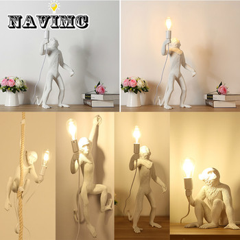 Nordic Designer Monkey Table Lamp Personality Simple Study Bar Industrial Retro Wind Artist Desk Table Light
