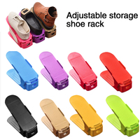 10pcs Durable Adjustable Shoe Organizer Footwear Support Slot Space Saving Cabinet Closet Stand Shoes Storage Rack Shoebox