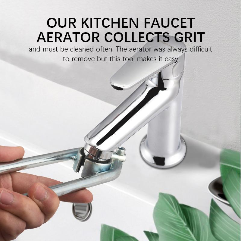 New Aerator Wrench Faucet Repair Unscrew Kitchen Wash Basin Fliter Faucet Nozzle Aerator Removal Tool Faucet Bubbler Tap Wrench