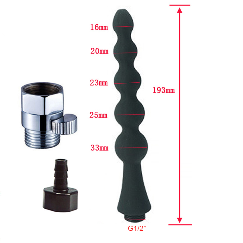 Modun душ клизма для анальной чистки анус вагинальный очиститель душ силиконовая насадка для туалета Биде Душ наконечник портативный биде опрыскиватель - Цвет: A24