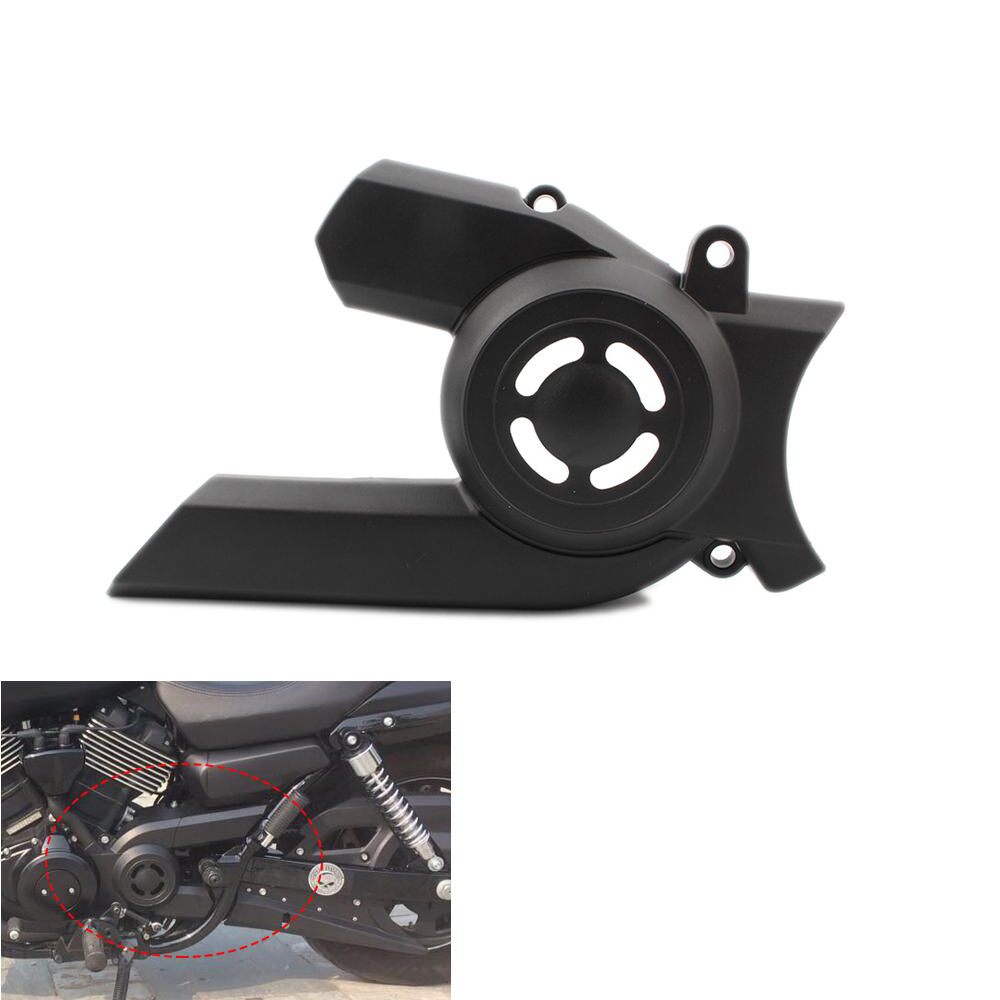 UNDEFINED Black Front Gear Chain Belt Guard Protector Sprocket Cover For <font><b>Harley</b></font> Street <font><b>XG750</b></font> XG 750 2015 2016 2017 2018 image