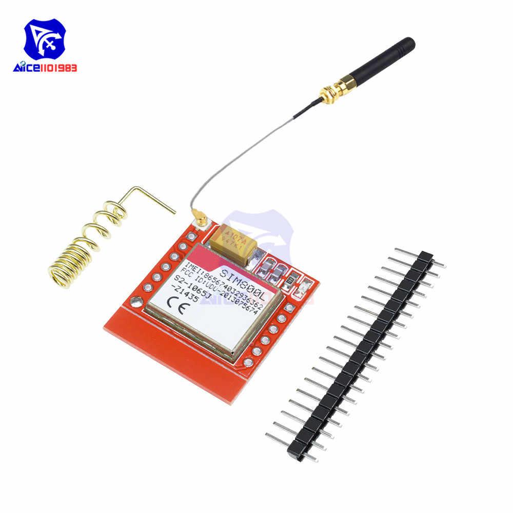 Diymore SIM800L GSM GPRS Modulo Core Quad-band Wireless Scheda di Porta Seriale TTL Interfaccia IPEX Antenna Micro SIM Card per Arduino