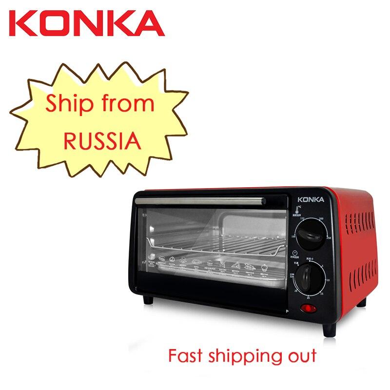 Кухонная печь KONKA Horno electrico, четыре электрика Hornos para cocina, 12л, 1050 Вт, красный