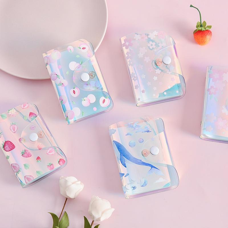 Pvc Transparent 20 Bits Card Case Business Card Holder Women Girls Credit Card Bag Id Card Holder Wallet Office Accessories