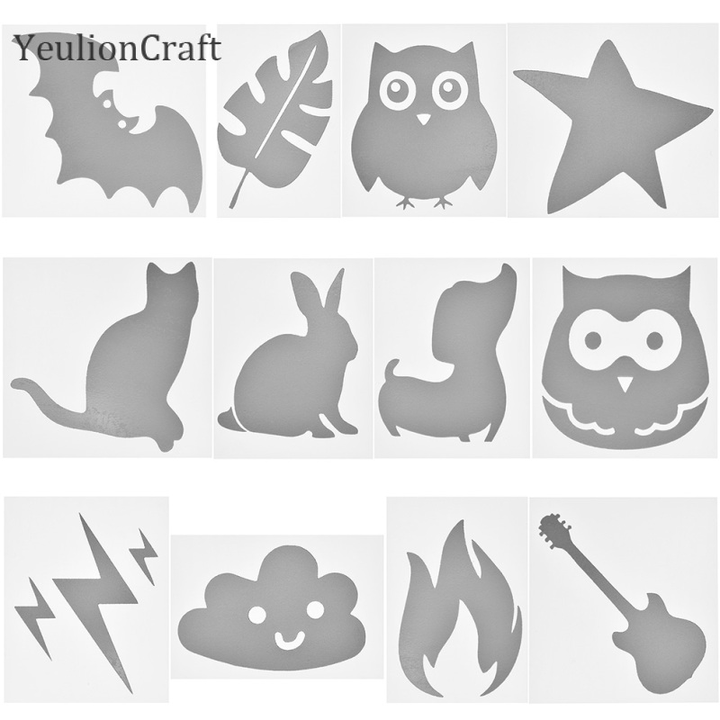 YeulionCraft 10Pcs/lot Cloud Fire Heat-transfer Reflective Tape Hot Stamping Foil Sticker Vinyl Film DIY Iron On Fabric Clothing