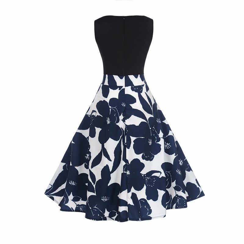 2020 Sommer Kleid Floral Print Boho Kleider Frauen Casual Strand Sommerkleid Ärmelloses Party Kleid Vestidos De Fiesta LWL1693