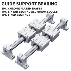 Linear Rail Slide support for optical guide rail Shaft With Guide Support Bearing Slip Motor for DIY CNC Routers Mills Lathes()