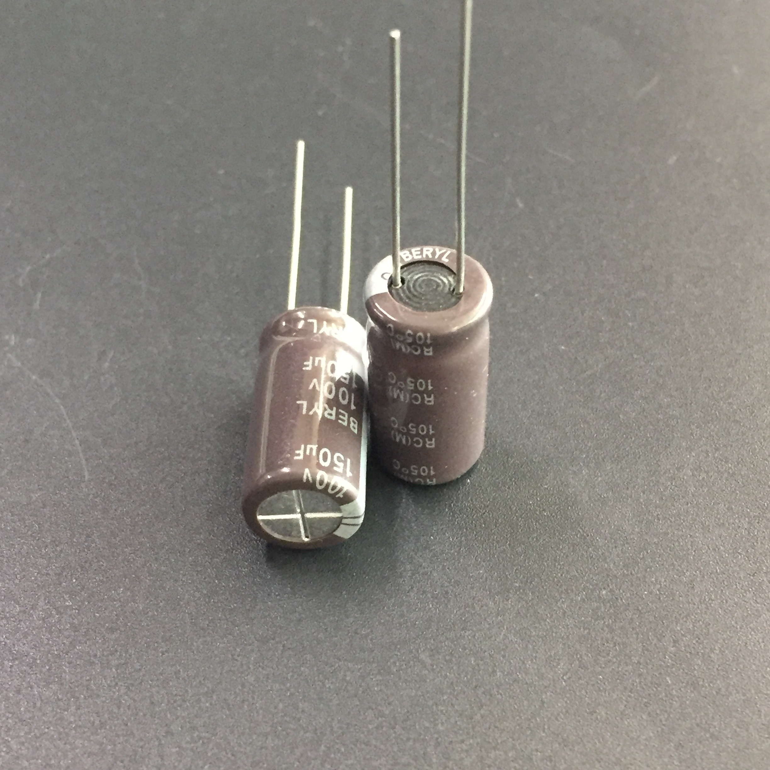 5pcs/50pcs <font><b>150uF</b></font> <font><b>100V</b></font> BERYL RC 10x20mm 100V150uF Good Quality Capacitor image