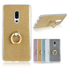 For Meizu 16 15 Pro 7 Plus 6T U20 U10 MX6 MX5 M6S M6 M5 Note M5C M5S M5 Glitter Case Bling Finger Ring Silicone Soft Cover(China)