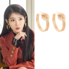 Big Gold DEL LUNA Hotel IU Korean dramas TV Fashion personality Eardrop Elegant For Women Earrings pendientes brincos ornament