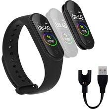 Bluetooth Smart Watch M4 Heart Rate Blood Monitor Smartband pk Mi Band 2/3/4 Fitness Tracker kids Men Smartband For Andriod x9 bluetooth 4 0 heart rate monitor smartband tpu strap black