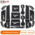 Auto Porta Scanalatura Zerbino Auto Anti-Slip Tazza Zerbino Antiscivolo Porta Pad di Gate Per Mitsubishi Outlander 2013- 2018 Accessori Per Auto