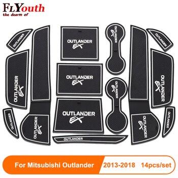 Car Door Groove Mat Auto Anti-Slip Cup Mat Non Slip Door Gate Pad For Mitsubishi Outlander 2013-2018 Car Accessories цена 2017