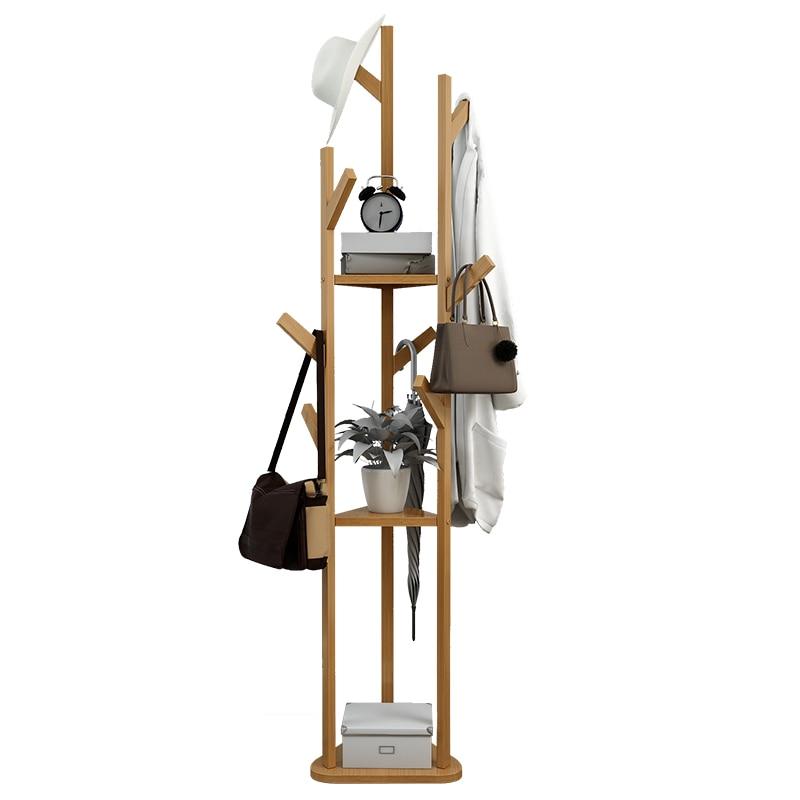 Clothes Hanger Solid Wood Rack Multi-functional Modern Small Storage Rack Simple Home Hanger Floor