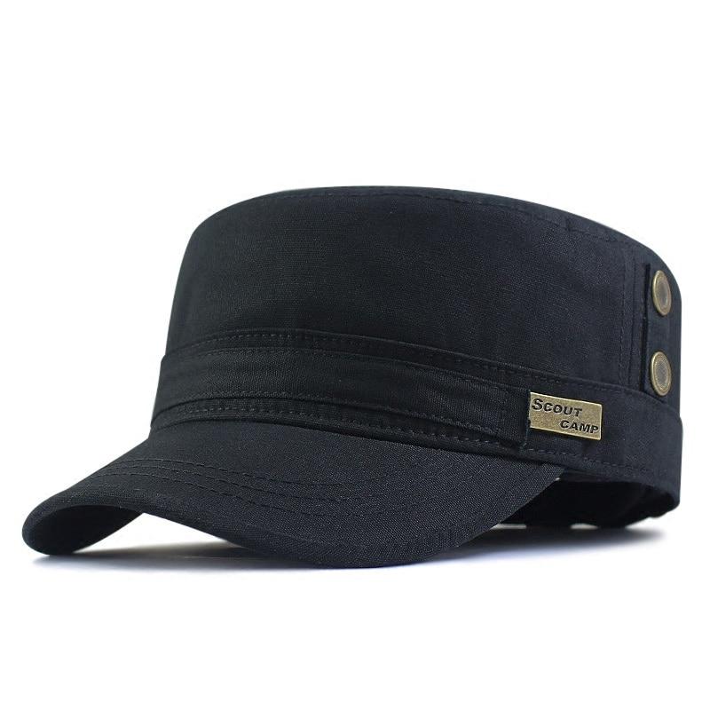 Spring Big Size Baseball Caps Man Large Size Army Flat Cap Men Summer Cotton Plus Size Military Hat 58-62cm 62-68cm