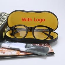 Johnny Depp Optical Spectacle Frame Eyeglasses Men Women Computer Clear Lens Retro Acetate Eyeglasses Frame Male 12080
