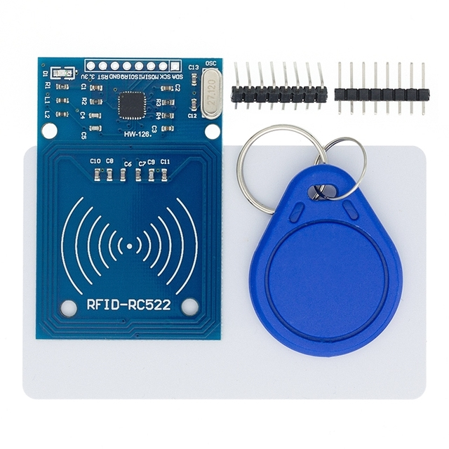 Free shipping 50pcs MFRC 522 RC522 RFID RF IC card sensor module to send Fudan card,Rf module keychain