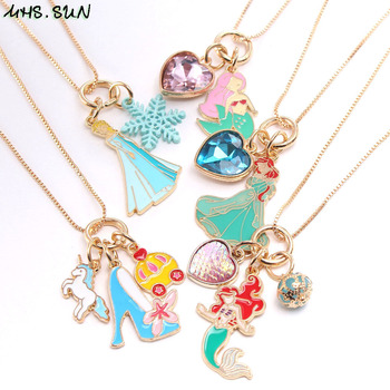 MHS.SUN новое ожерелье с подвеской в виде сердца русалки на высоких каблуках для принцессы ожерелье с подвесками для маленьких девочек цепочка ожерелье ювелирные изделия 1 шт.|Цепочки|   | АлиЭкспресс
