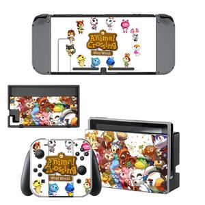 Image 2 - Animal Crossing Skin Sticker vinyl for Nintendo Switch sticker skin NS Console and Joy Con Controllers