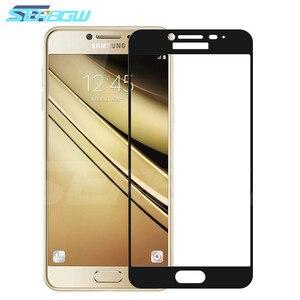 Image 1 - 9D tam kapak koruyucu cam üzerinde Samsung Galaxy A3 A5 A7 J3 J5 J7 2016 2017 S7 temperli ekran koruyucu cam filmi