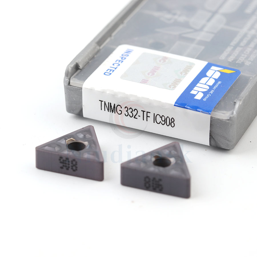 10pcs <font><b>TNMG</b></font> <font><b>160404</b></font> TF IC907 IC908 TNMG160408 TF IC907 IC908 Cabide Inserts CNC External Turning Lathe cutter Cutting Too image