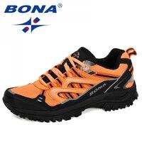 Bona 2020 Nieuwe Ontwerpers Populaire Sneakers Wandelschoenen Mannen Outdoor Trekking Schoenen Man Toerisme Camping Sport Jacht Schoenen Trendy