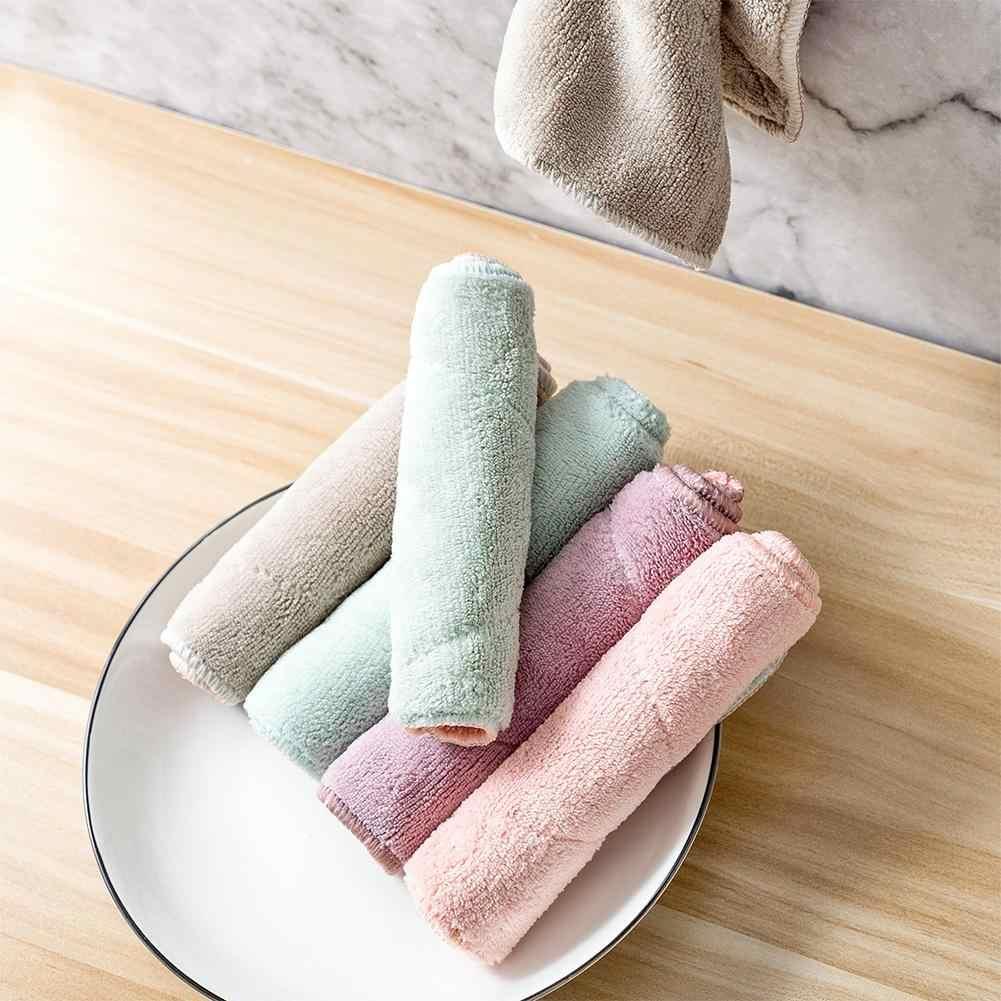 DishyKooker ev çift renk süper su emme yıkama havlu mutfak temizlik silme bezi havlu