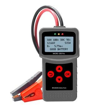 Probador de batería de coche MICRO-200 PRO, Analizador de sistemas de batería de 12V 24V de capacidad, herramienta de diagnóstico de motocicletas y coches