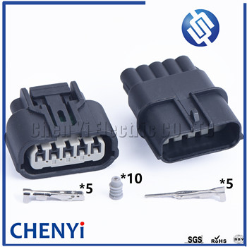 1 set 5 Pin 6189-1081 6189-6909 Female or Male Auto Waterproof Connector Plug Auto Intake Pressure Oxygen Sensor Plug For Honda image
