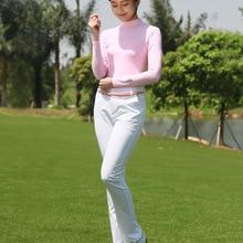 PGM леди Sungreen крутая футболка Летняя компрессионная женская рубашка с длинными рукавами сухая одежда Ropa De Golf Mujeres