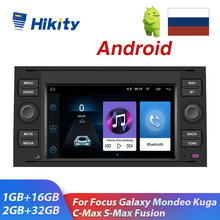 Hikity Android Auto Radio 2 Din GPS Multimedia MP5 Player 7'' Audio Stereo Für Fokus Galaxy Mondeo Kuga C-max Fusion Autos OBD2