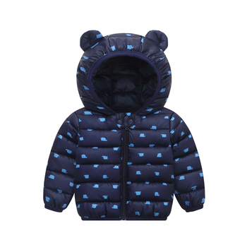 Autumn Winter New Baby Down Coats Infant Snow Wear Jackets Baby Girls Boys Cartoon Print Hooded Coats Warm Outerwear Clothes цена 2017