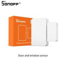 Sonoff zigbee portão sensor magnético SNZB 04 sistema de alarme de segurança de sensor de janela de porta trabalho em casa inteligente com sonoff zbbridge