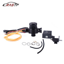 RASTP-1 Set Turbo Diverter Dump Blow Off Valve Dual Port For Golf Polo Turbo Diesel Dump Valve with Horn and Adapter RS-BOV038 new electrical diesel blow off valve with horn outside for audi a3 s3 diesel dump valve diesel bov with horn wlr5011w 5743