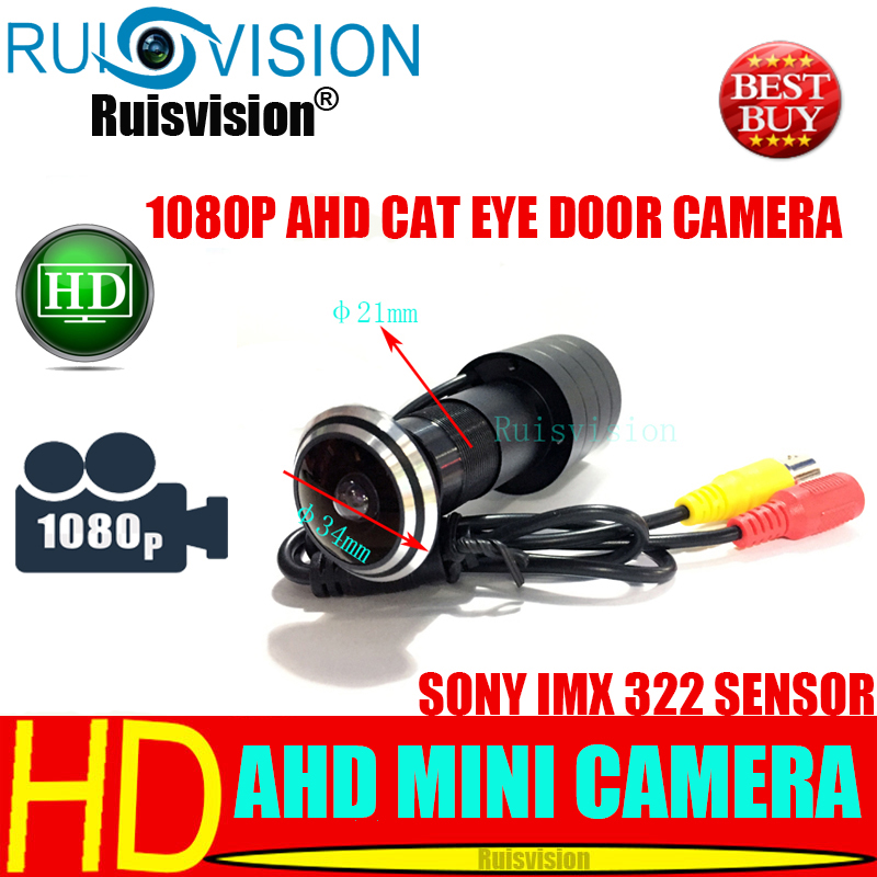 NEW AHD SONY Sensor IMX322 1080P/2.0MP Cat Eye Door Hole Security Color CCTV Video Security Surveillance Camera 170 wide degrees image