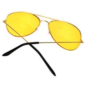 Image 4 - ראיית לילה עדשה צהובה משקפי קריאת זכוכית מגדלת עבור נשים גברים בחדות גבוהה Presbyopic טייס נהיגה משקפי שמש + 1.0 ~ + 4 n5