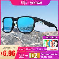 Gafas de sol polarizadas KDEAM para hombre 2019 bisagra de tornillo de 5 cilindros lentes de sol para dama resistentes al desgaste gafas de sol para conducción al aire libre