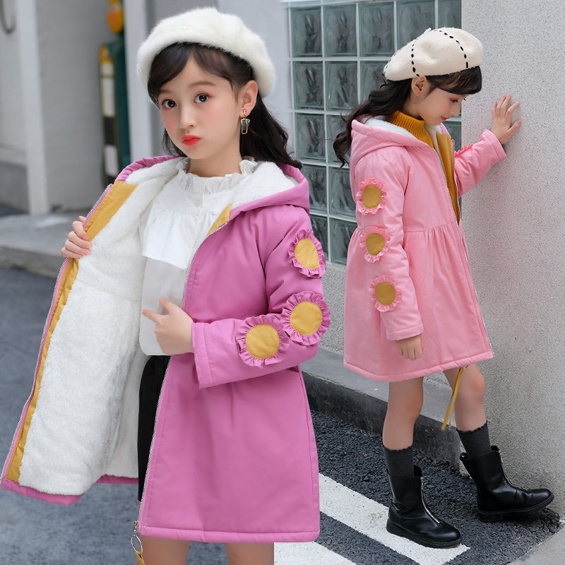 Girls Hoodies Winter Jackets for Girls Teenage Winter Coats Children Wintercoat Kids Warm Outerwear Girls Winter   Trench   Coat