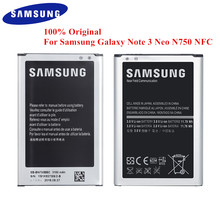 Original Battery EB BN750BBE for Samsung Galaxy Note 3 Neo LTE SM N750 N7505 N750K N750S  3100mAh with NFC