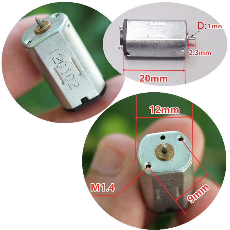 2PC/lot N30 DC3.7V 19000RPM Micro Model airplane motor High Speed and Large Torsion image