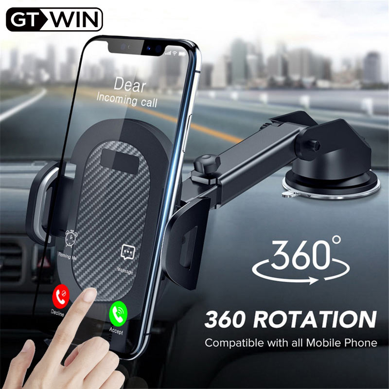 GTWIN Windshield Gravity Sucker Car Phone Holder For IPhone Samsung Huawei Universal Mount Mobile Support Smartphone Stand