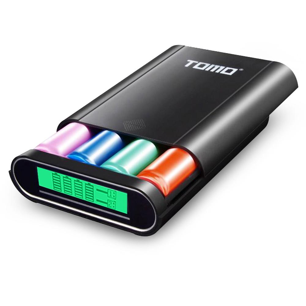 Chargeur de batterie TOMO M4 4*18650 chargeur USB externe avec écran LCD Intelligent pour iPhone X Samsung S8 Note 8