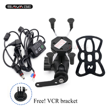 Camera VCR Phone Holder For HONDA NSS 300 FORZA 2013-2019 250 Reflex 2001-2007 Motorcycle GPS Navigation Bracket USB Charger